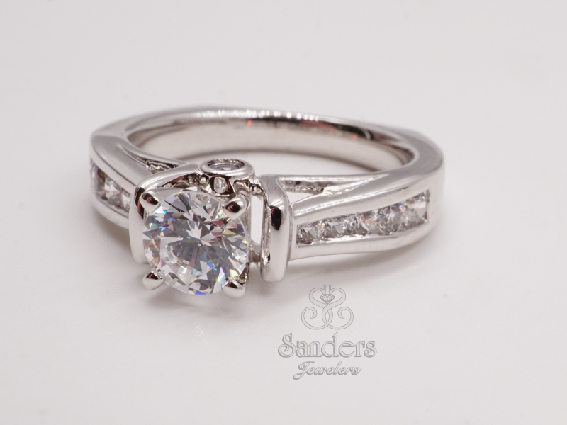 Bridal Jewelry - Tapering Channel Set Engagement Ring