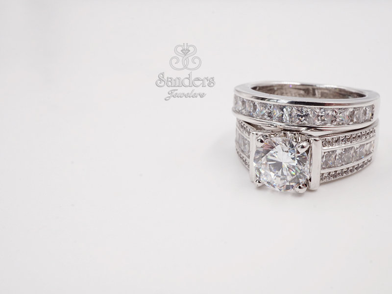 Bridal Jewelry - Princess Cut Channel Set Diamond Wedding Band - image #3