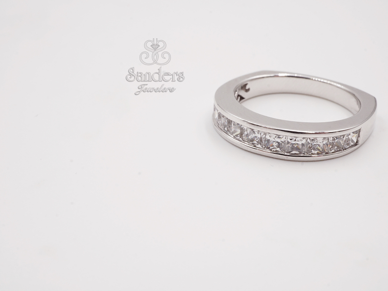 Bridal Jewelry - Princess Cut Channel Set Diamond Wedding Band