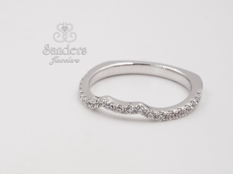 Bridal Jewelry - Curved Diamond Wedding Band