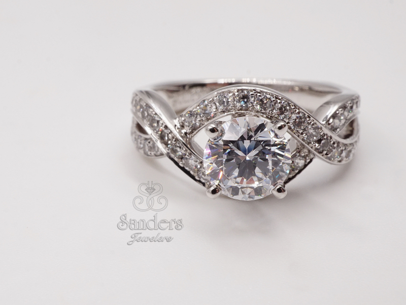 Bridal Jewelry - Twisting Diamond Engagement Ring