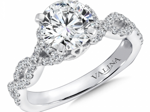 Bridal Jewelry - Infinity Inspired Twisting Diamond Engagement Ring