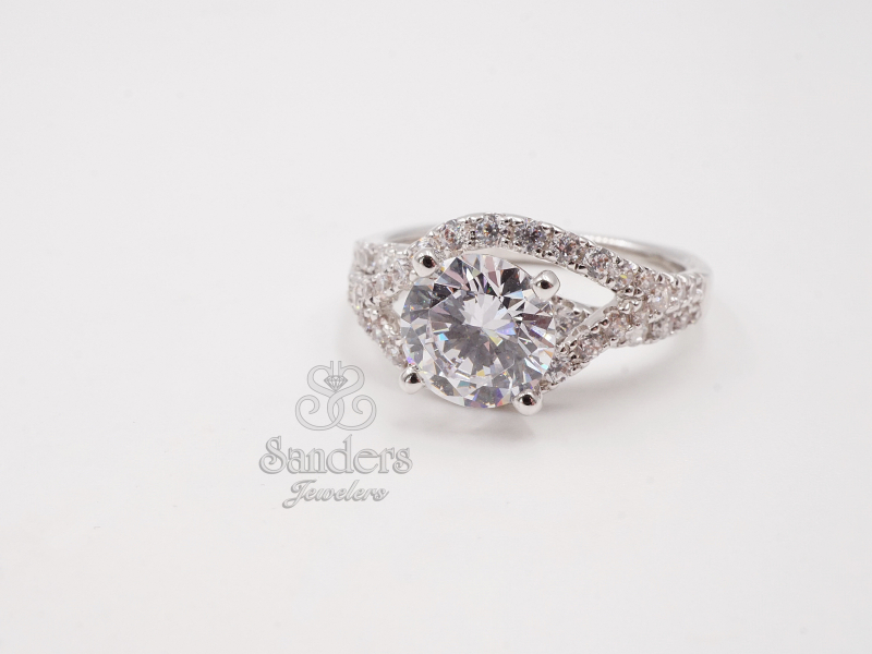Bridal Jewelry - Asymmetrical Split Diamond Engagement Ring