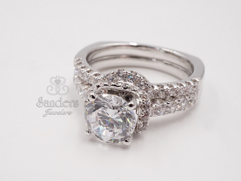 Bridal Jewelry - Diamond Fishtail Setting Engagement Ring - image #2