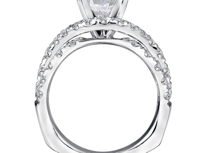 Bridal Jewelry - Weaving Diamond Engagement Ring - image #2