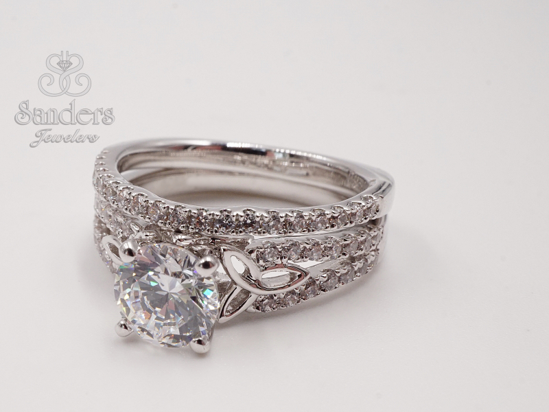 Bridal Jewelry - Celtic Knot Engagement Ring - image #2