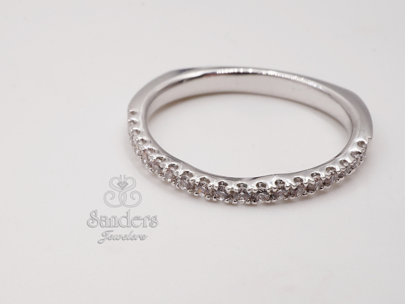 Bridal Jewelry - Contoured Diamond Wedding Band