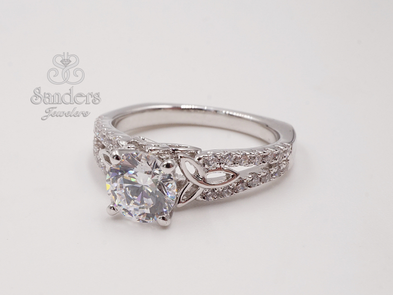 Bridal Jewelry - Celtic Knot Engagement Ring