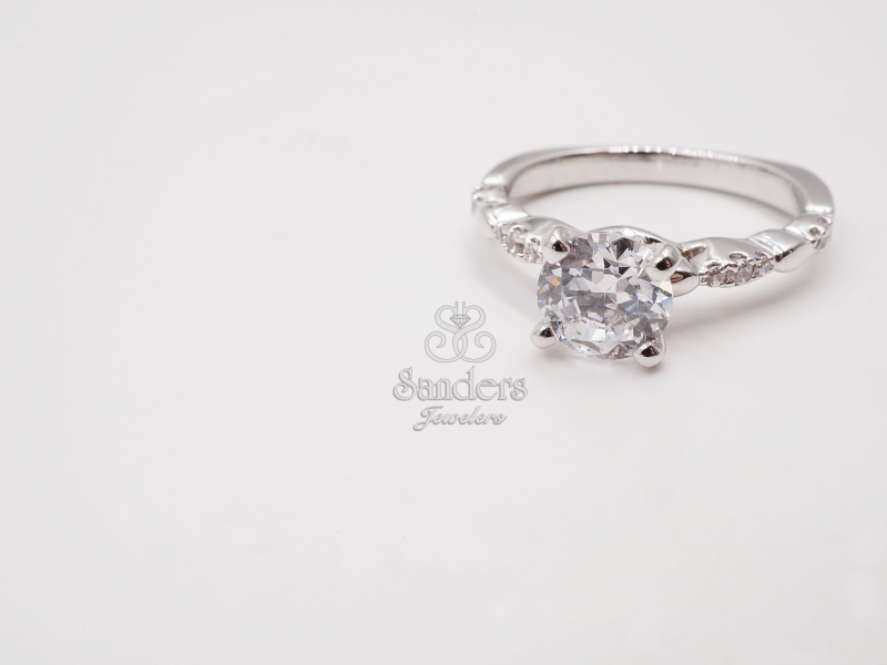 Bridal Jewelry - Diamond Accented Engagement Ring