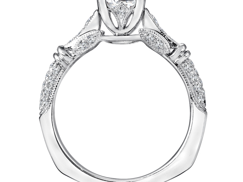 Bridal Jewelry - Princess Cut Vintage Inspired Engagement Ring - image 2