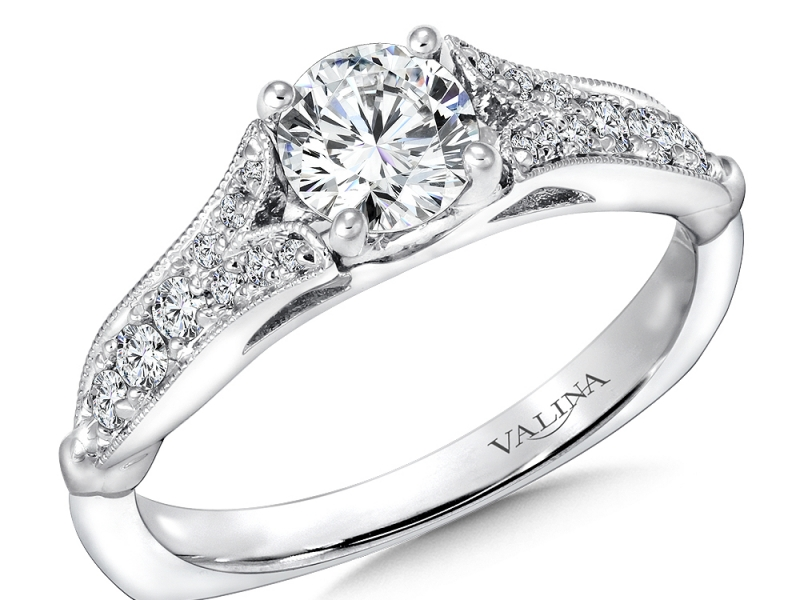 Bridal Jewelry - Vintage Inspired Split Shank Engagement Ring - image #2