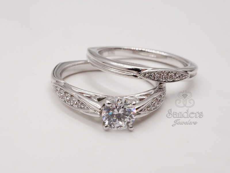 Bridal Jewelry - Vintage Inspired Engagement Ring - image #2