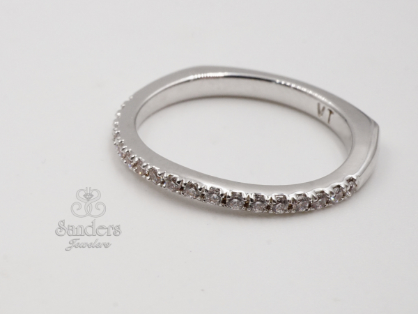 Bridal Jewelry - Slightly Curved Wedding Band