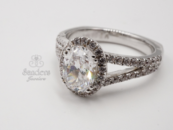 Bridal Jewelry - Oval Halo Engagement Ring