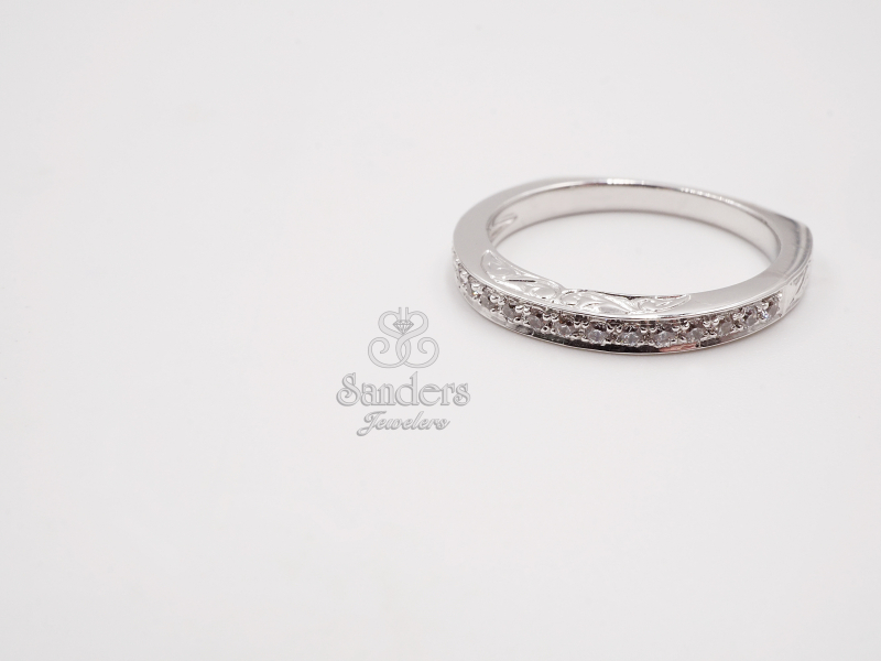 Bridal Jewelry - Straight Diamond Band w/ Profile Engraving