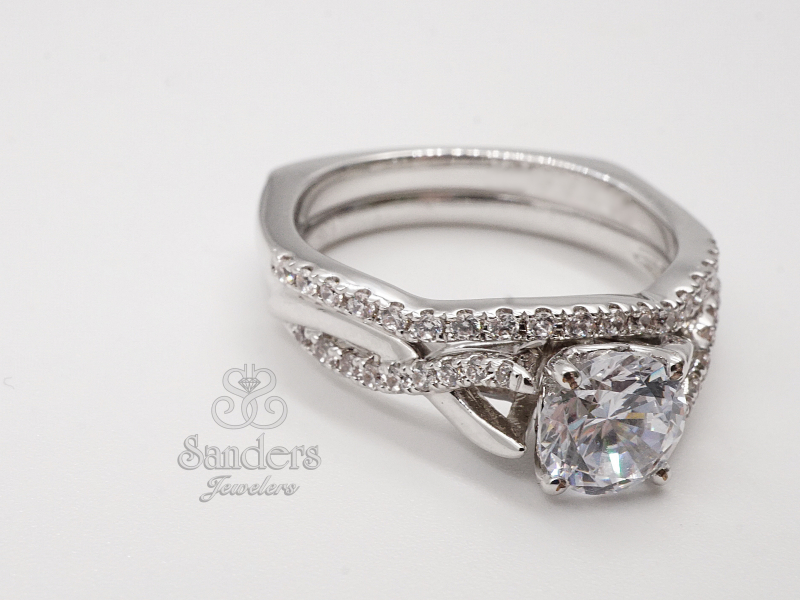 Bridal Jewelry - Twisting Diamond Engagement Ring - image 2