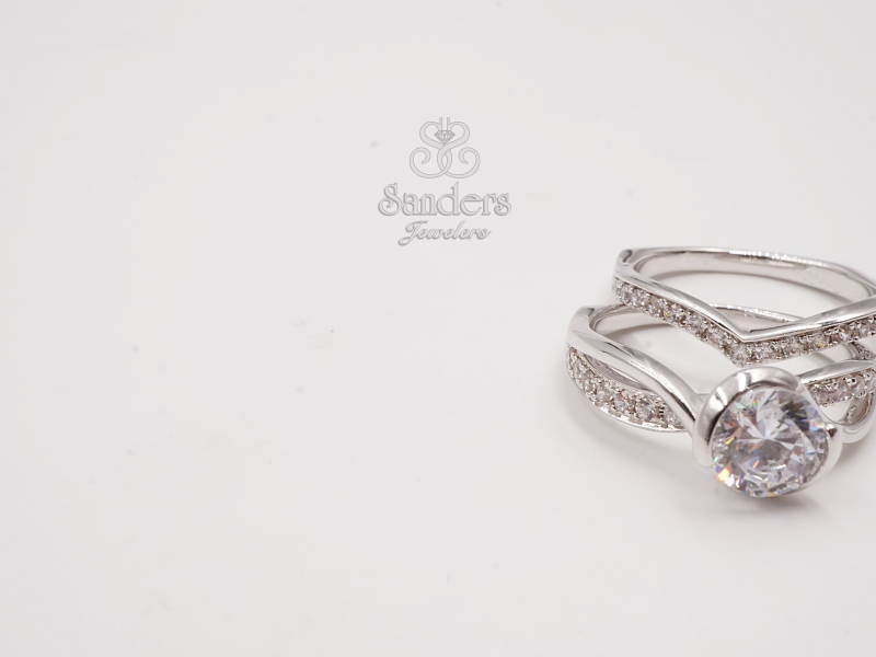 Bridal Jewelry - Pointed Diamond Wedding Band - image #2