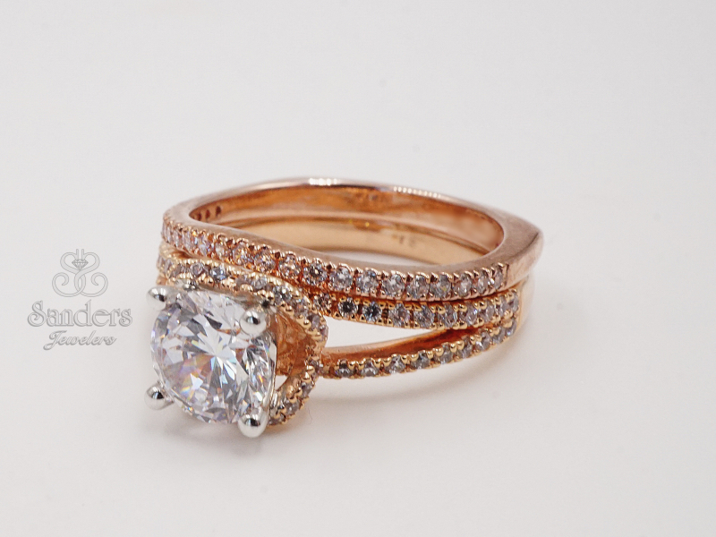 Bridal Jewelry - Slightly Curved Wedding Band - image #2
