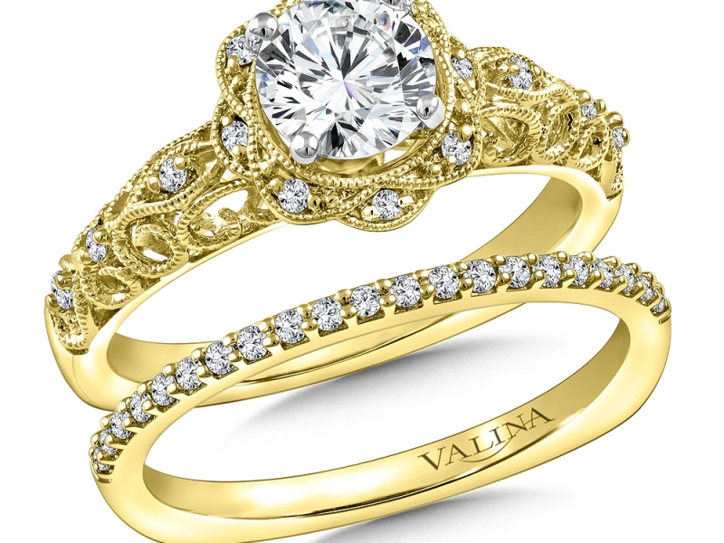 Bridal Jewelry - Vintage Inspired Diamond Engagement Ring - image #4