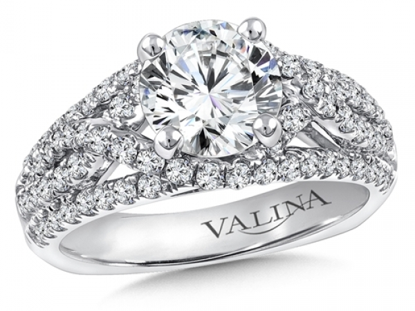 Bridal Jewelry - Criss-Cross  Diamond Engagement Ring
