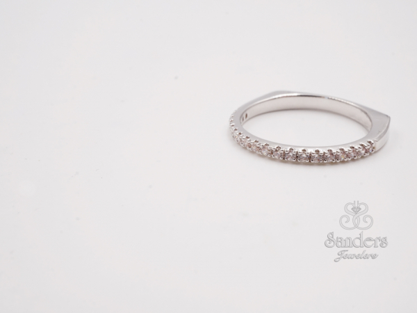 Straight Diamond Wedding Band - 14K White Gold Diamond Wedding Band. This timeless design will be the faithful and everlasting reminder of your special day. (0.17 tdw) This style can be special ordered in 14K or 18K White, Yellow, and Rose Gold, and Platinum.
