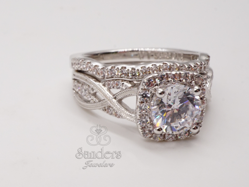 Bridal Jewelry - Twisting Halo Engagement Ring - image #3