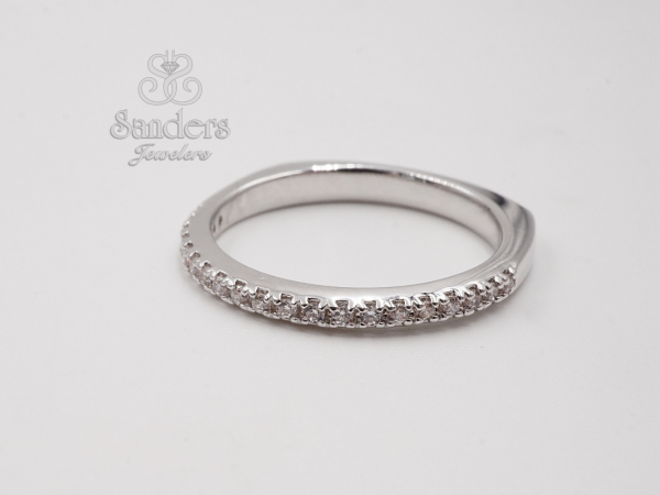 Straight Diamond Wedding Band - 14K White Gold Diamond Wedding Band. This timeless design will be the faithful and everlasting reminder of your special day. (0.15 tdw) This style can be special ordered in 14K or 18K White, Yellow, and Rose Gold, and Platinum.