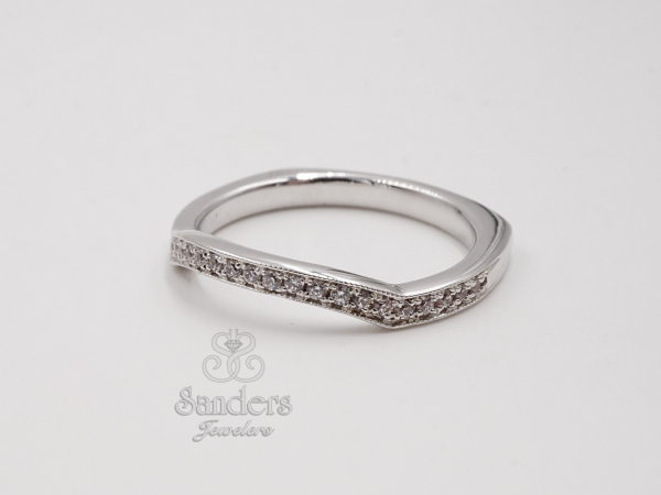 Bridal Jewelry - Contoured Diamond Band