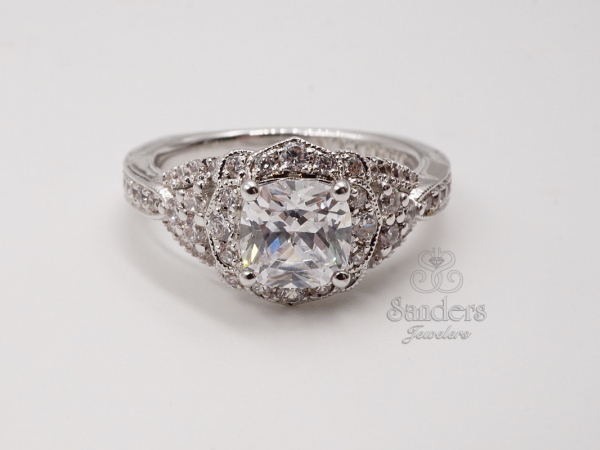 Bridal Jewelry - Vintage Inspired Engagement Ring