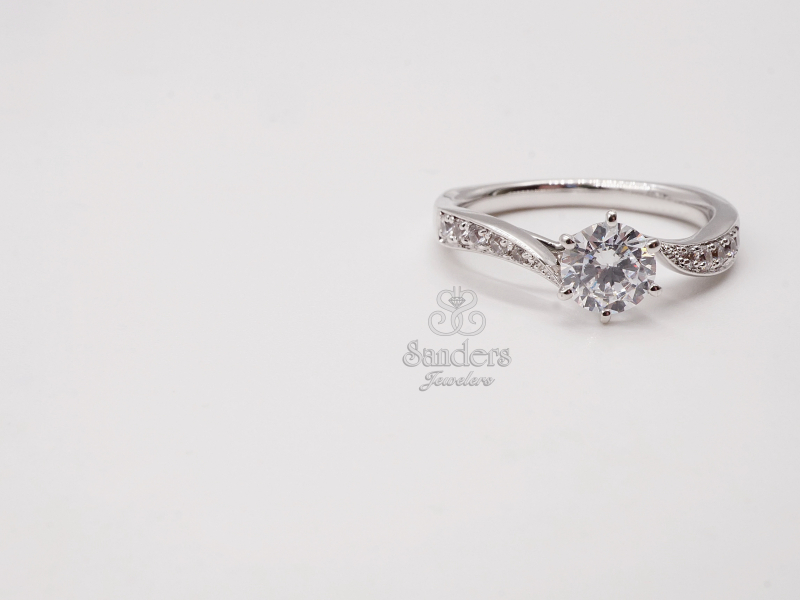 Bridal Jewelry - Diamond Bypass Engagement Ring