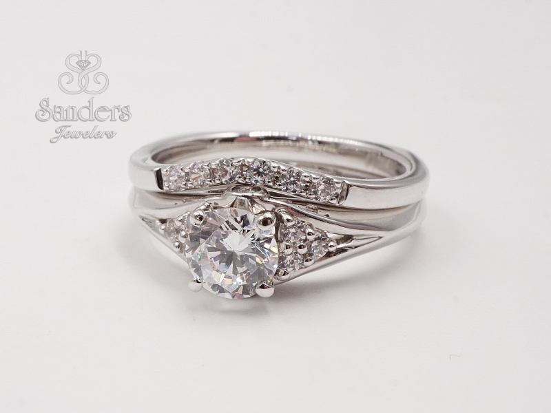 Bridal Jewelry - Curved Diamond Wedding Band - image #3