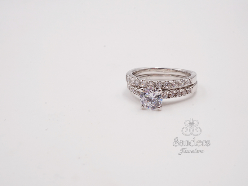 Bridal Jewelry - Straight Diamond Wedding Band - image 2