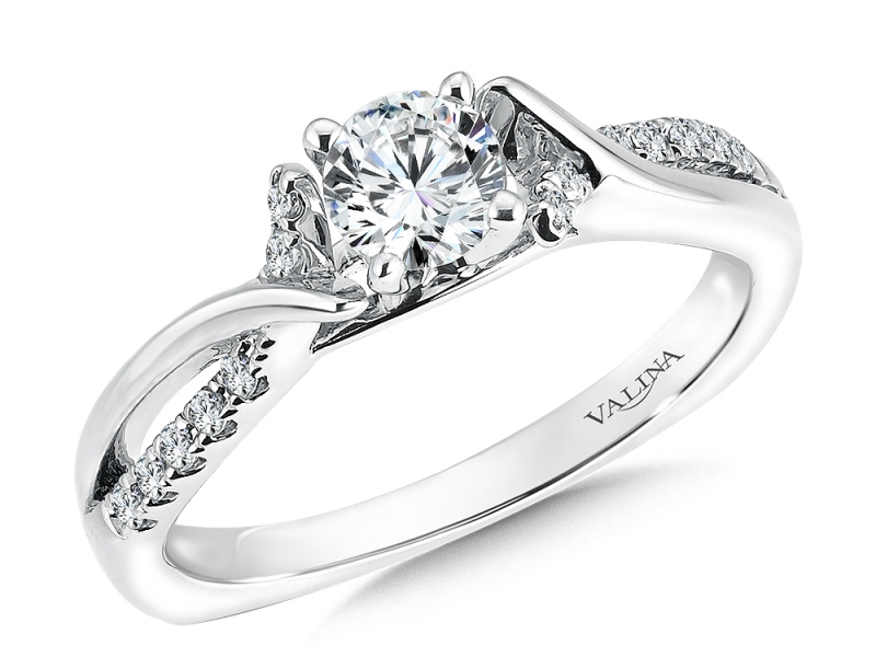 Bridal Jewelry - Criss-Cross Diamond Engagement Ring - image #3