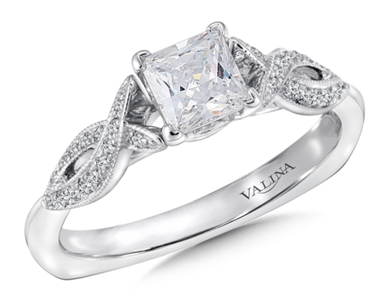 Bridal Jewelry - Twisting Princess Cut Engagement Ring - image #3