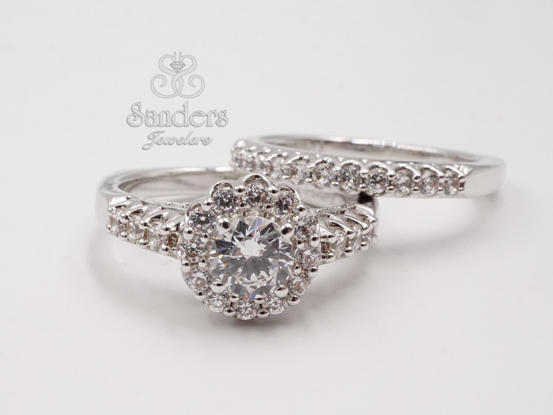Bridal Jewelry - Round Halo Diamond Engagement Ring - image #2