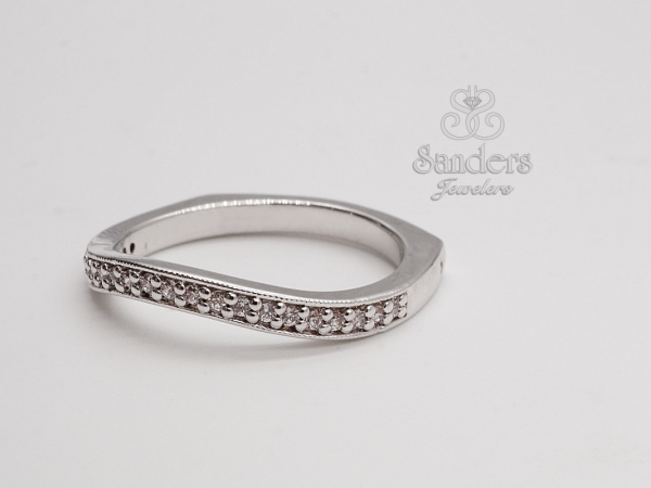 Bridal Jewelry - Curved Wedding Band