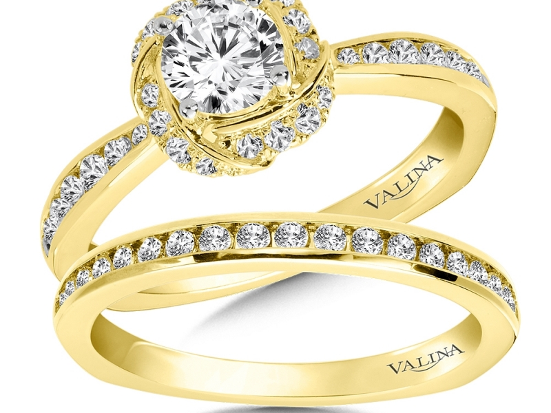 Bridal Jewelry - Spiral Halo Engagement Ring - image #3