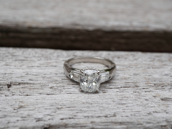 "Sanders Jewelers Custom Designs - Custom ""Bullet"" Side Engagement Ring"