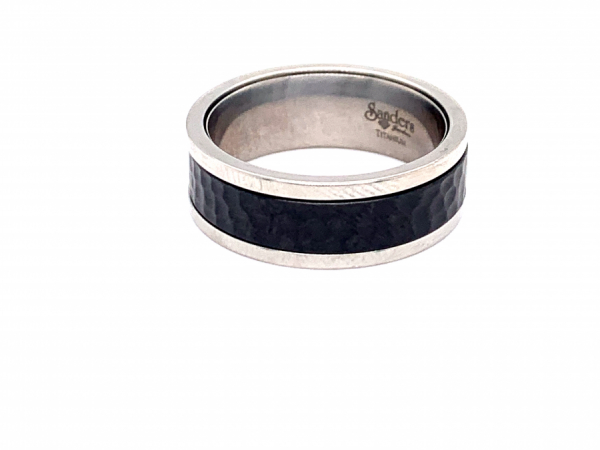 Men's - Zirconium Hammered Ring Insert
