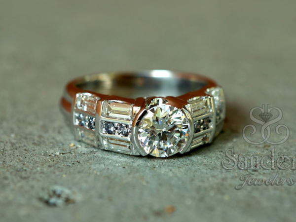 Sanders Jewelers Custom Designs - Blue Diamond Custom Engagement Ring
