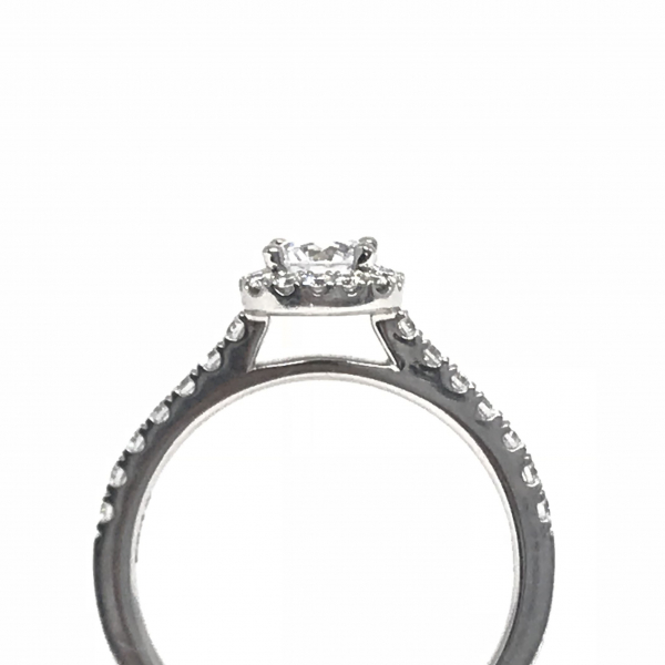 Engagement Rings - Cushion Halo Engagement Ring - image 2