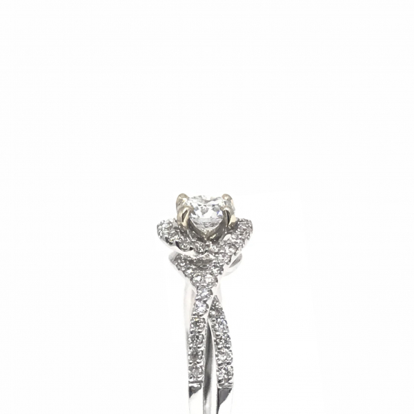 Engagement Rings - Twisted shank diamond engagement ring  - image #2