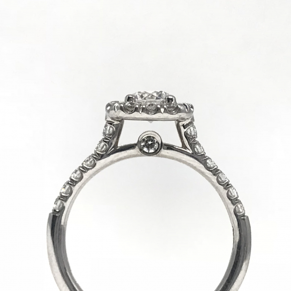 Engagement Rings - Cushion Halo Engagement Ring  - image #3