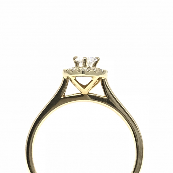 Engagement Rings - Pear Halo Engagement Ring  - image #3