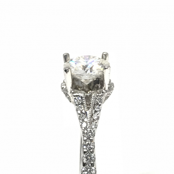 Engagement Rings - Round Semi-Mount  - image #3