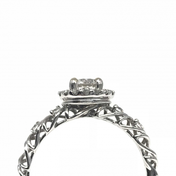 Engagement Rings - Diamond Halo Engagement Ring - image #2