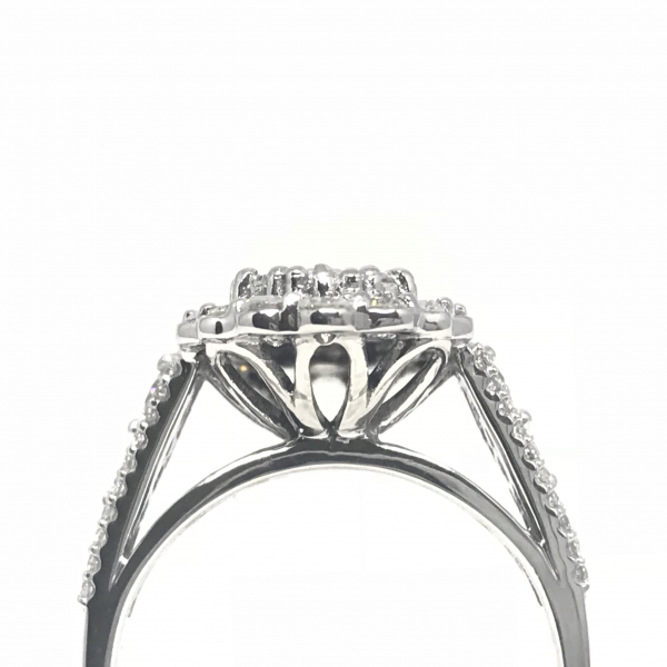 Engagement Rings - Oval  Cluster Engagement Ring - image #2