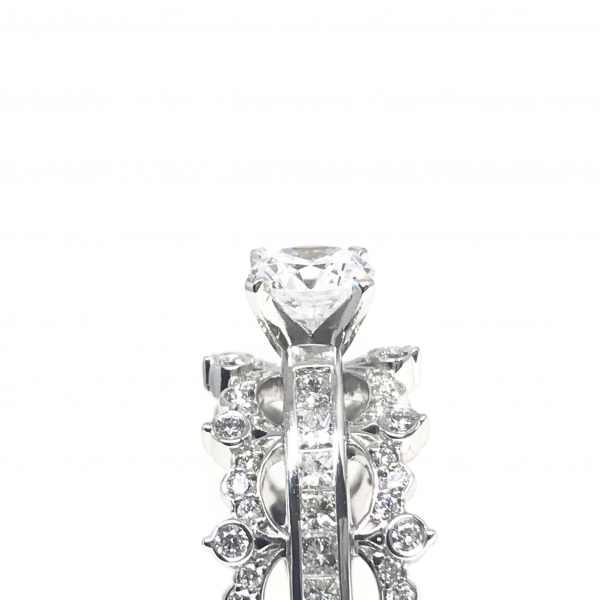 Engagement Rings - Crown Inspired Semi-Mount  - image 3