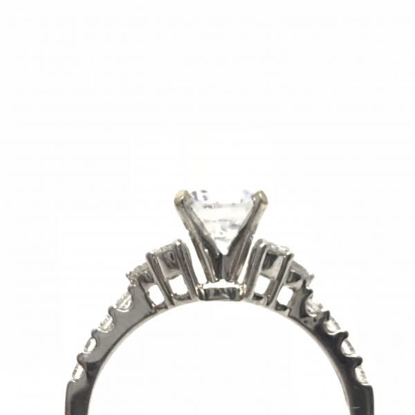 Engagement Rings - Round Semi-Mount Ring  - image #2