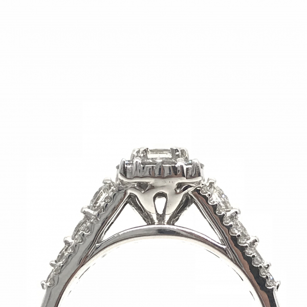 Engagement Rings - Princess Cut Halo Engagement Ring  - image #2